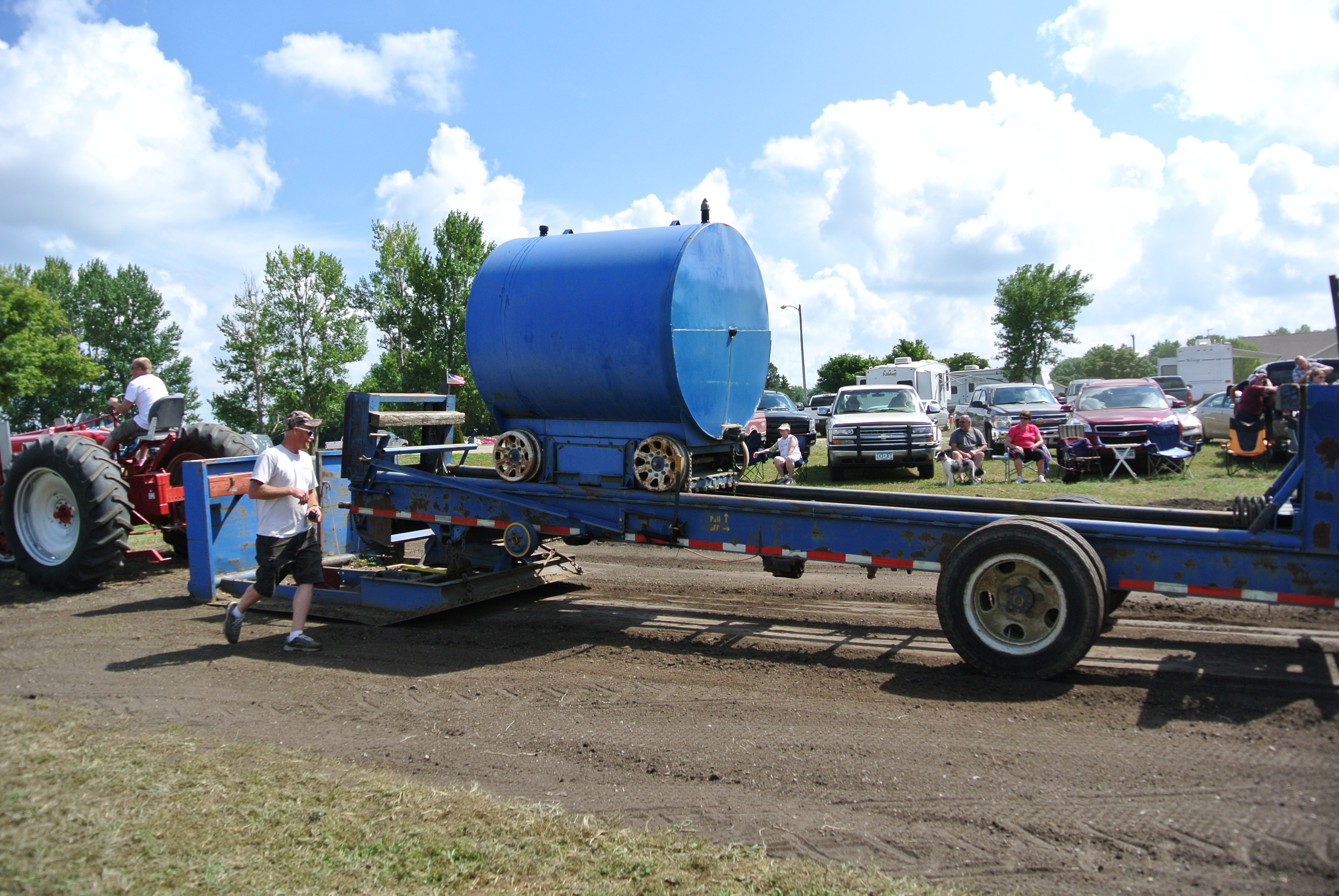 Tractor Pull Sled Flag : Racing at a walking pace tractor pulling… gearheadgrrrl